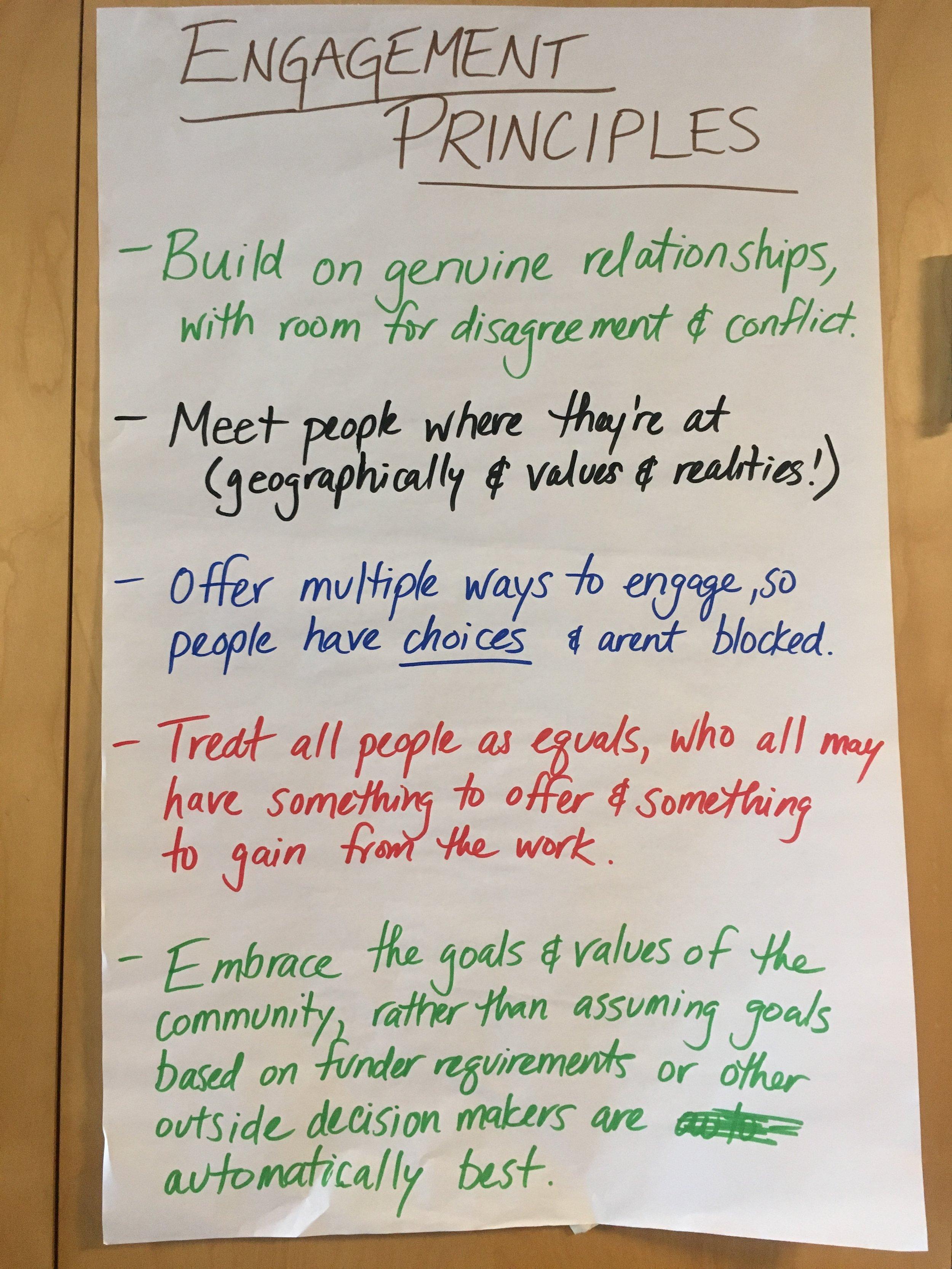 Our key engagement principles.