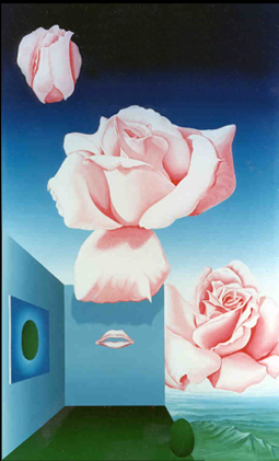 "Pursuit of Silence, Benini 1982, 38"" x 60"""