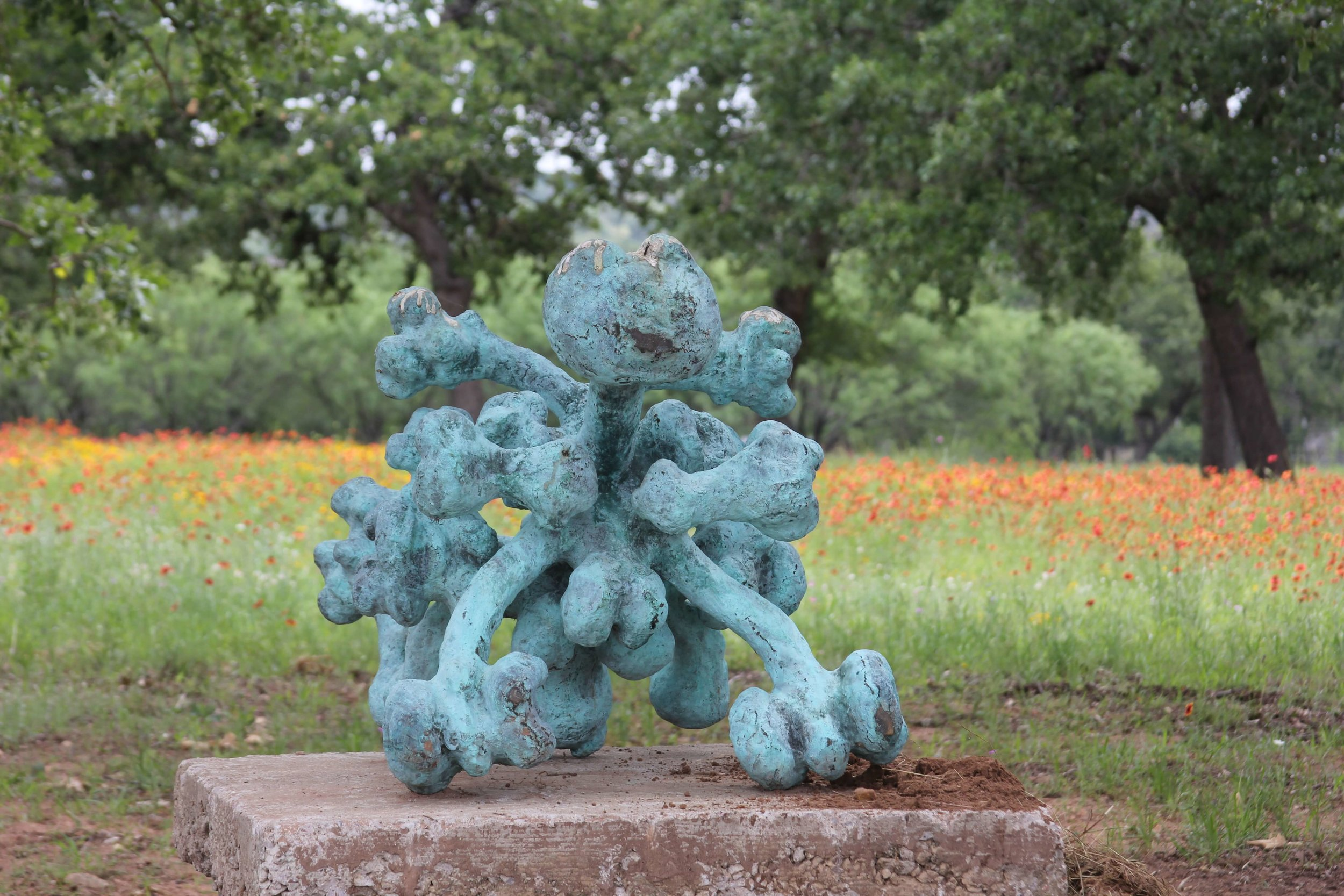 Duplicity   bronze by Icelandic artist Kristin Eyfells.