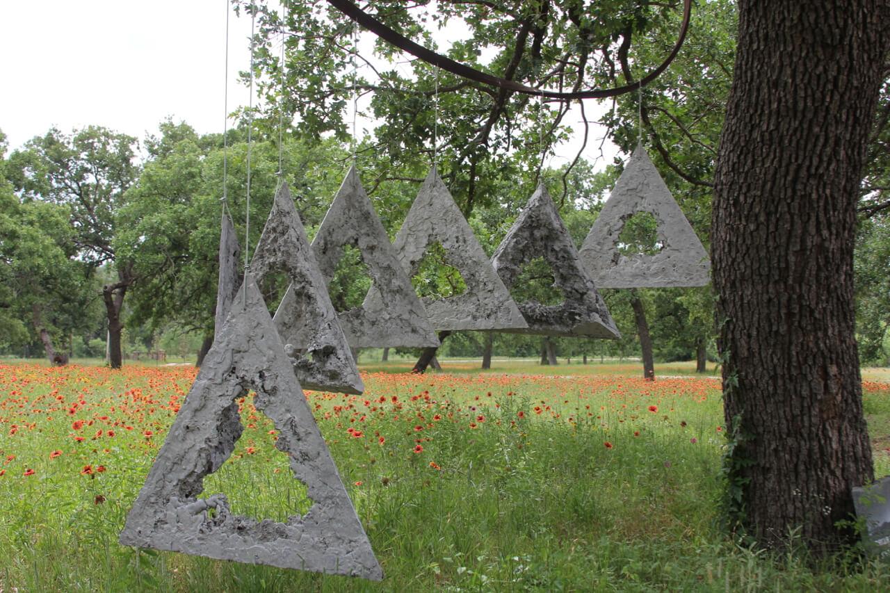 Triangular Linquisticities   by Icelandic sculptor Johann Eyfells.