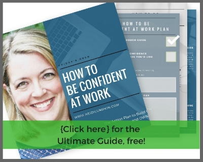 How to be confident at work coach