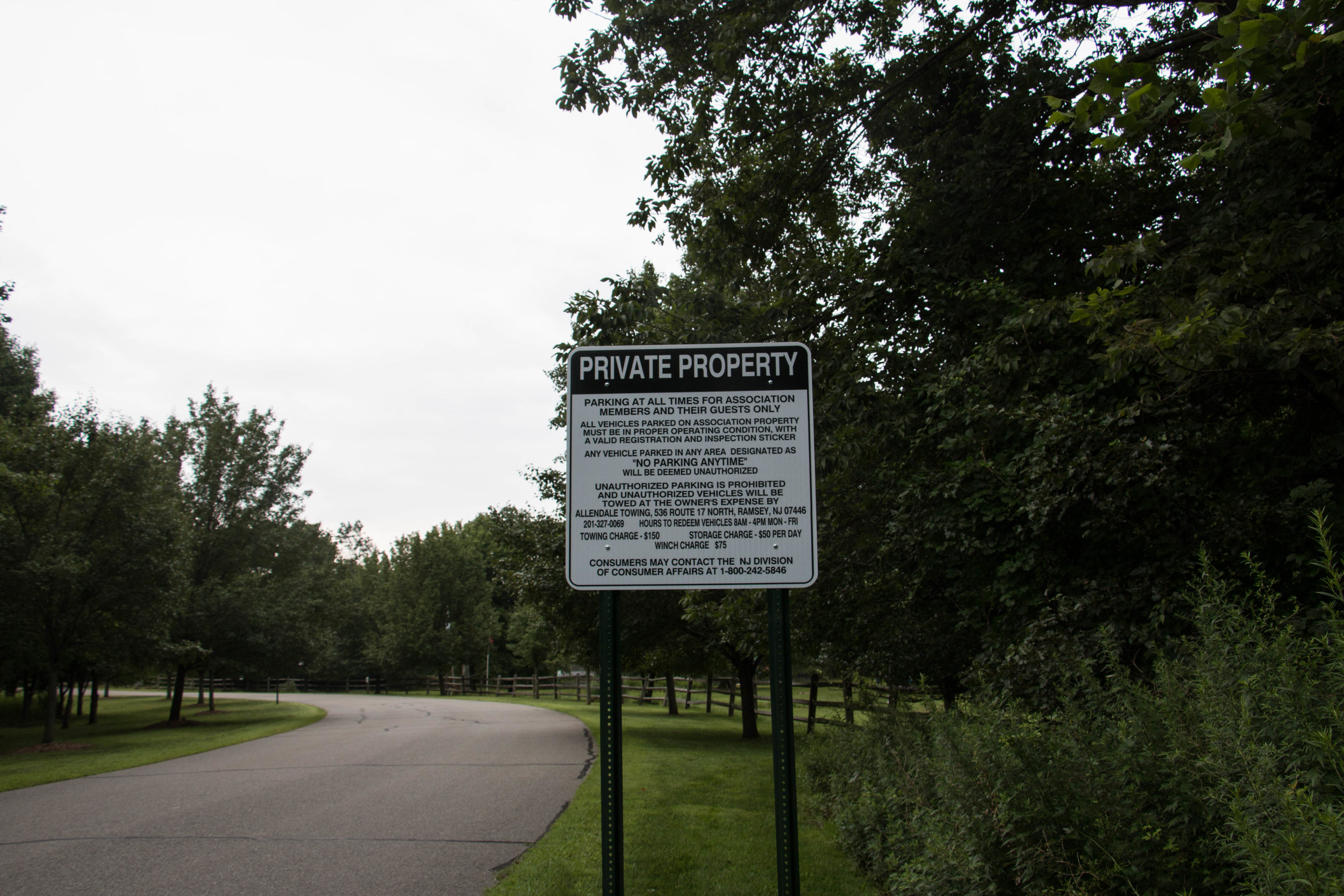 A sign on Ramapough Lenape Tribal Land