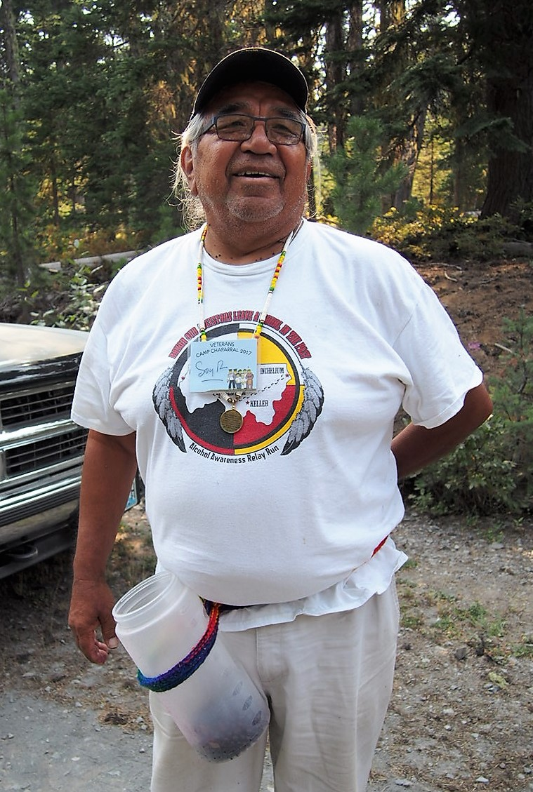 - A Yakima Elder at the retreat teaches others about the history of huckleberries in his Nation's sacred territory. It's a time consuming process but mediative and healthy.
