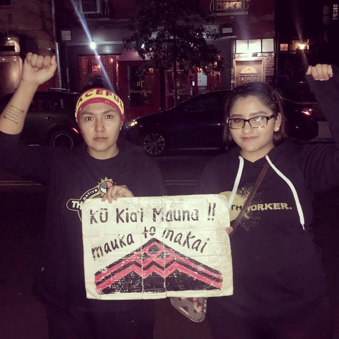 #ProtectMounaKea   Pictured: Lauren, Andreanne.