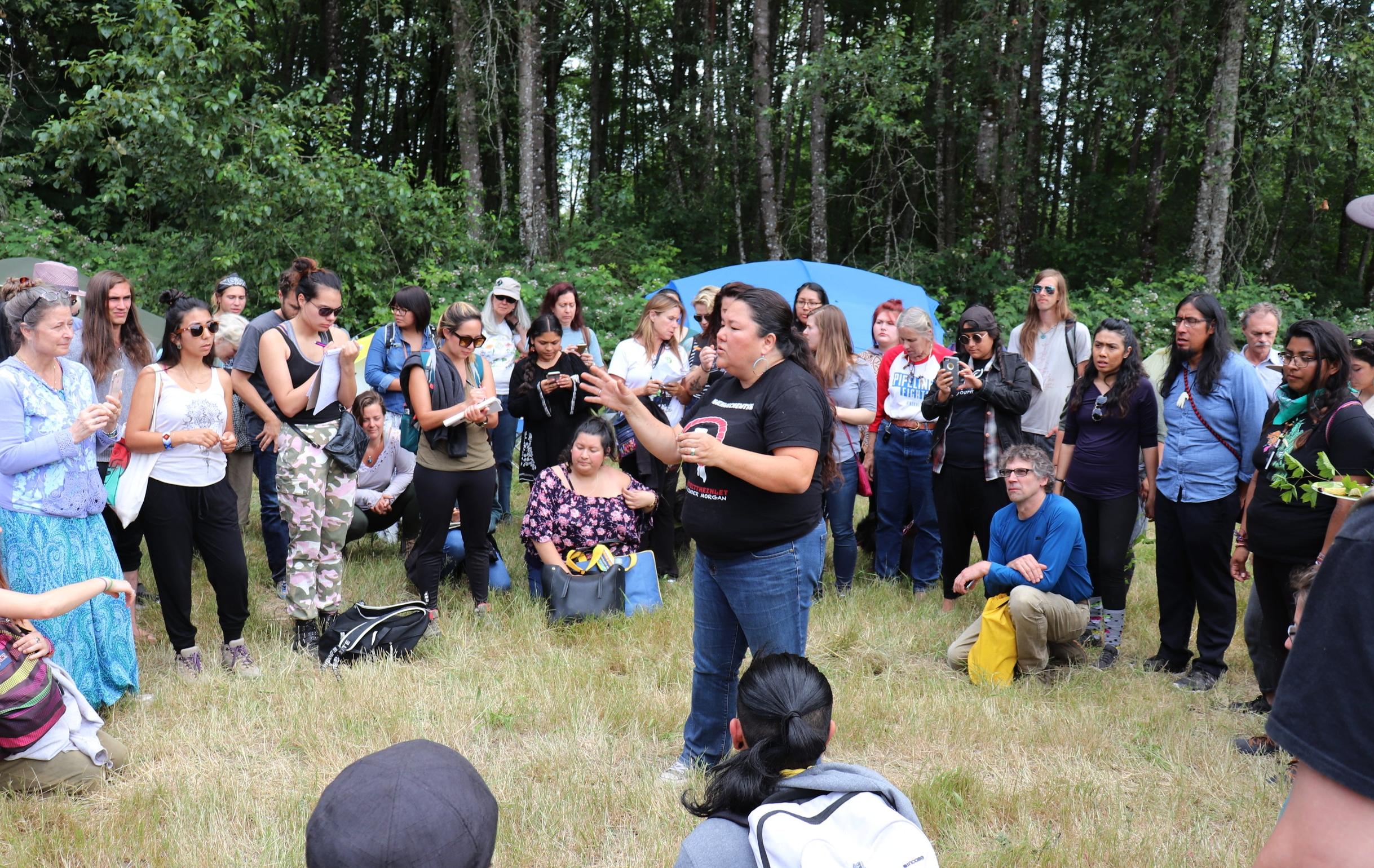 Plant walk with ethnobotanist Linda Black Elk.