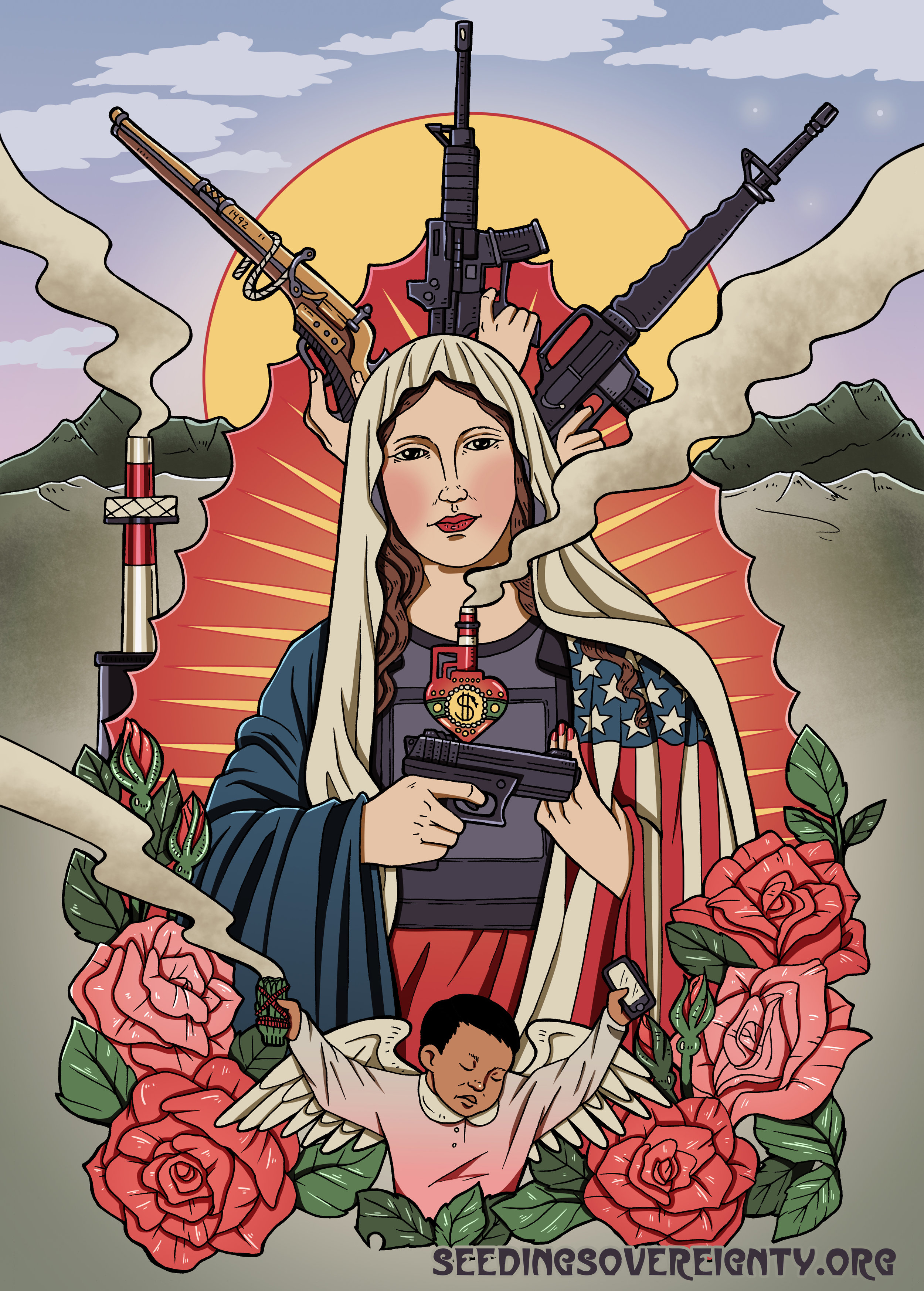 The Second Amendment: A Sacred Covenant of Ethnic Cleansing and Slavery Between the Nation State and Settler Militias - Written by Christine Nobiss & Art by Jackie FawnPublished March 20, 2018Printable PDF Zine Here