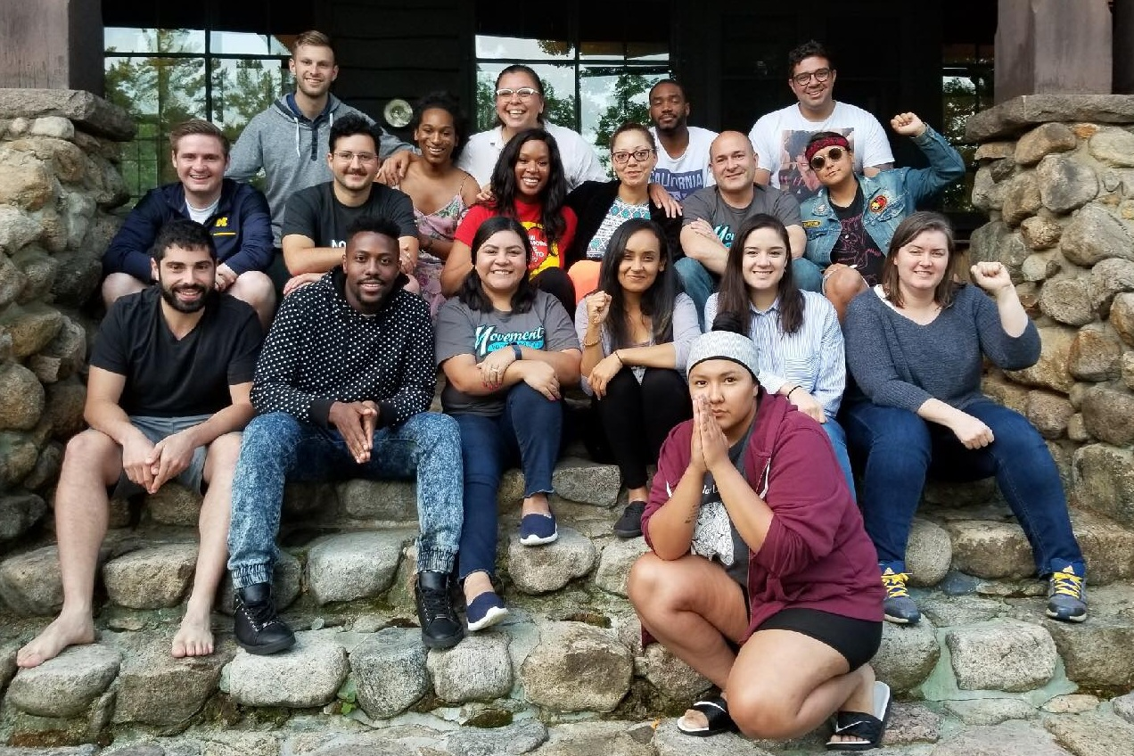 BLUE MOUNTAIN CENTER RETREAT - MOVEMENT VOTER PROJECT - Jun 11, 2018 - Youth Voice Amplifier Eryn Wise and Rising to Resist Program Director Lauren Howland attended a voter training/brainstorming retreat in Indian Lake, NY hosted by Movement Voter Project.