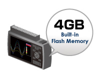 GRAPHTEC DATA LOGGER GL240 BUILT IN 4 GB FLASH MEMORY WITH SD CARD SUPPORT
