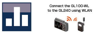 GRAPHTEC GL240 DISPLAY THE DATA BY A BAR CHART CONNECT GL100-WL TO GL240 USING WLAN