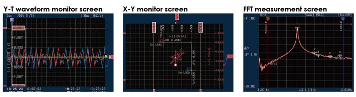 GRAPHTEC DATA LOGFER PLATFORM GL7000 SOFTWARE VARIOUS MEASUREMENT SCREENS