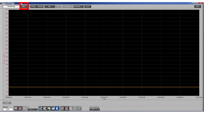 Graphtec Data Logger GL900 Converting File GBD to CSV on GL900 Step 1