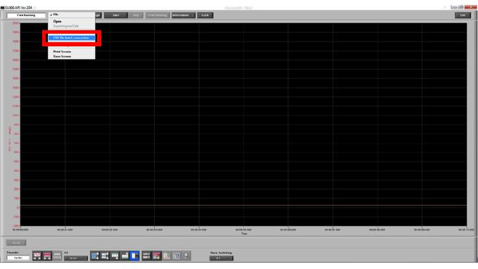 Graphtec Data Logger GL900 Converting File GBD to CSV on GL900 Step 2