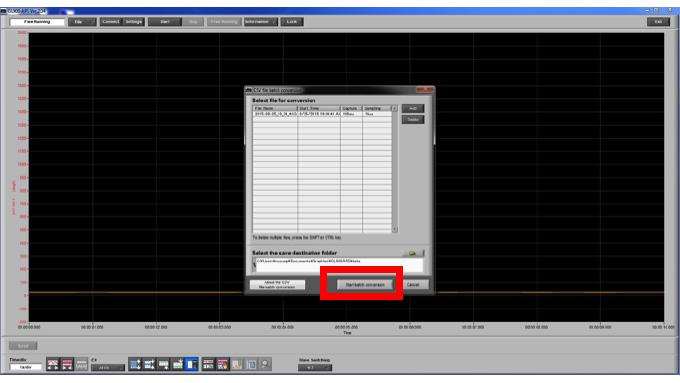 Graphtec Data Logger GL900 Converting File GBD to CSV on GL900 Step 5