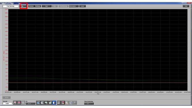 Graphtec Data Logger GL900 Print Screen or Save Screen Displays on GL900 Step 2