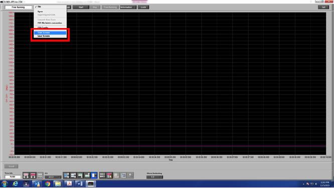 Graphtec Data Logger GL900 Print Screen or Save Screen Displays on GL900 Step 3