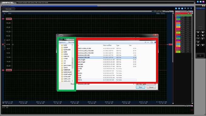 Graphtec Data Logger GL7000 Data Platform Converting File GBD to CSV on GL900 Step 4