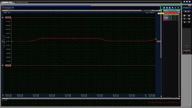 Graphtec Data Logger GL7000 Data Platform Print Screen or Save Screen Displays on GL900 Step 1