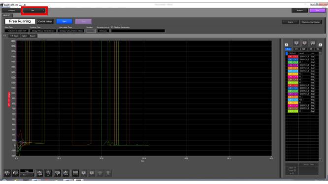 Graphtec Data Logger GL820 Print or Save Screen Displays Step 2