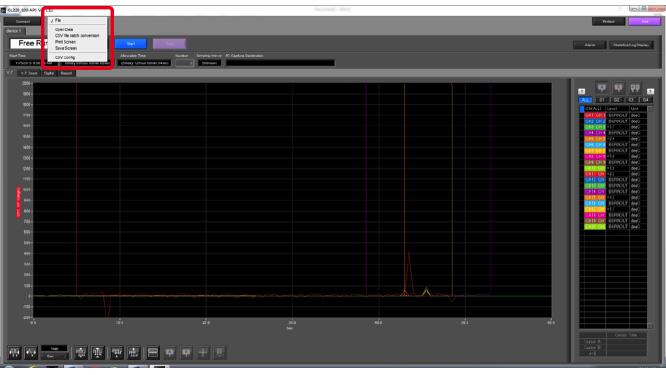 Graphtec Data Logger GL820 Print or Save Screen Displays Step 3