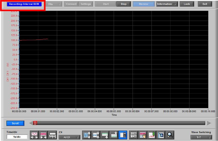 Graphtec Data Logger GL900 Reading RMS on GL900 Step 2