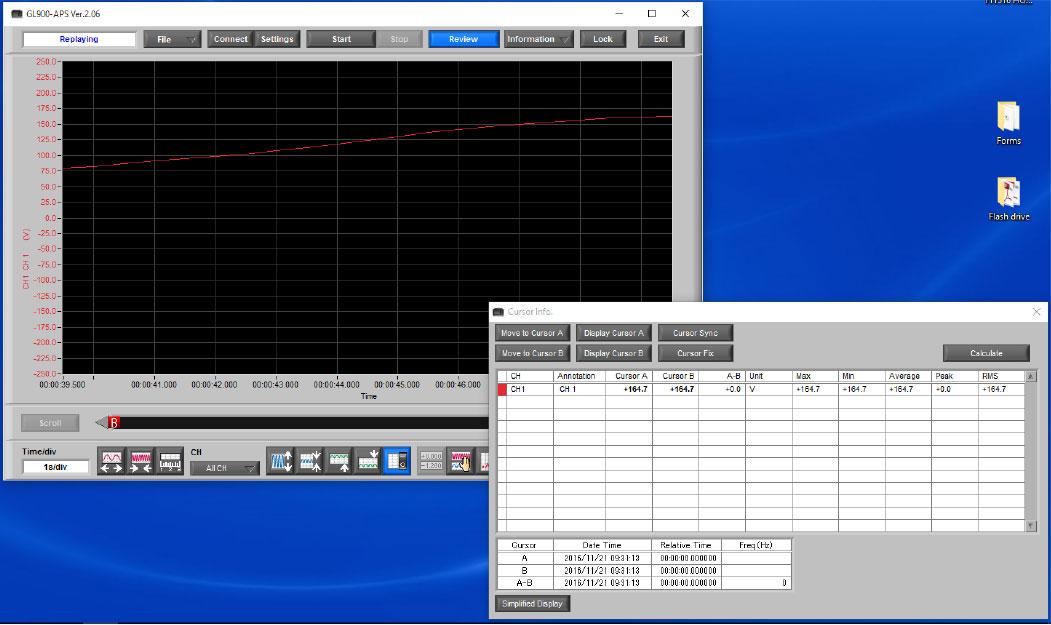 Graphtec Data Logger GL900 Reading RMS on GL900 Step 6