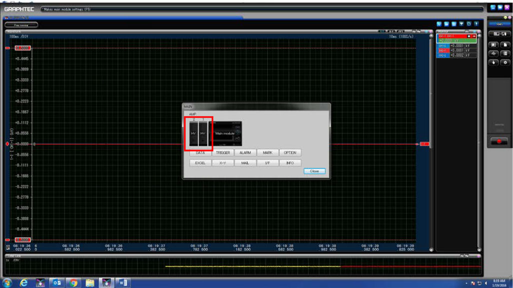 GRAPHTEC GL7000 SEPERATE CHANNELS AND TURNING ON SCALE DISPLAY ON GL7000 STEP 3