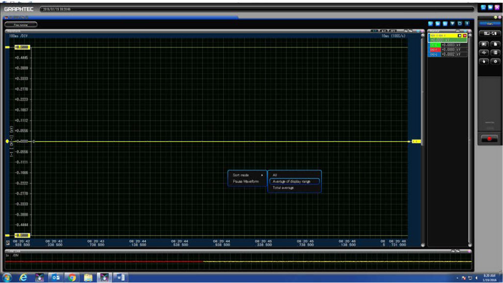 GRAPHTEC GL7000 SEPERATE CHANNELS AND TURNING ON SCALE DISPLAY ON GL7000 STEP 6