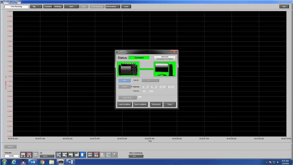 Graphtec Data Logger Data Platform Adjusting Scaling to Compensate Voltage Loss or Gain Step 1