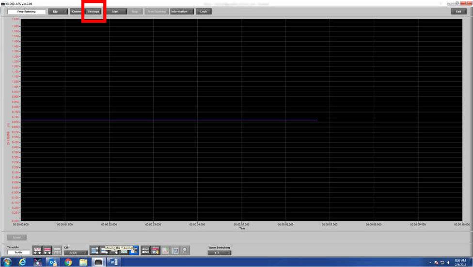 Graphtec Data Logger Data Platform Adjusting Scaling to Compensate Voltage Loss or Gain Step 2