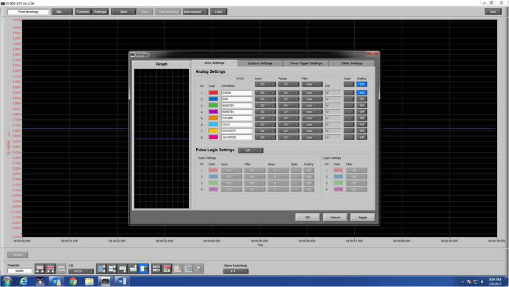Graphtec Data Logger Data Platform Adjusting Scaling to Compensate Voltage Loss or Gain Step 5
