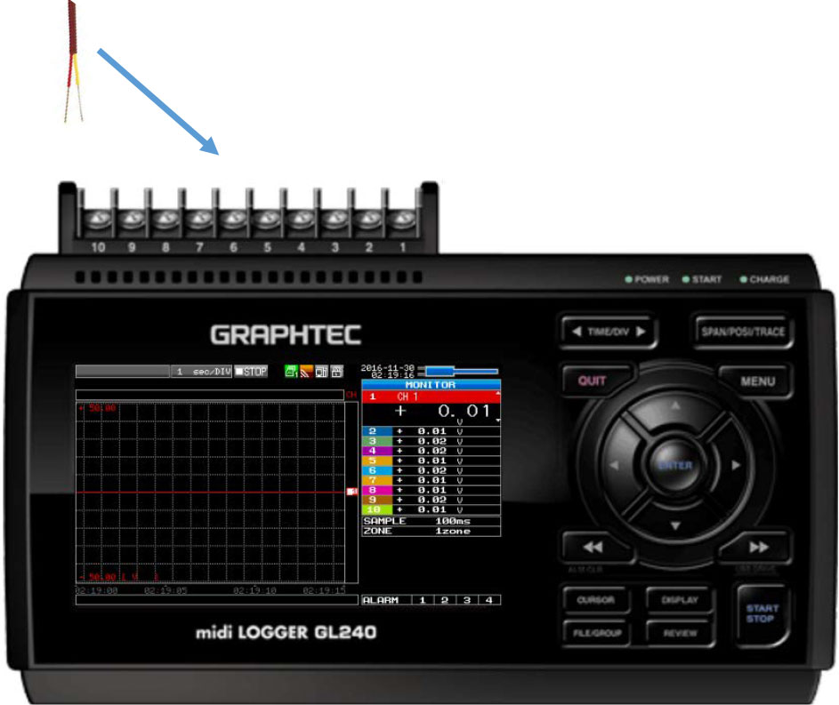 Graphtec Data Logger Data Platform Setting Up Temperature Input Step 3