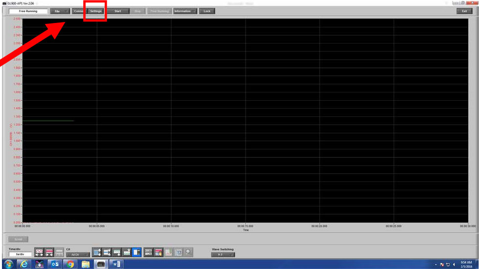 Graphtec Data Logger Data Platform How To Name and Label Channels Step 2