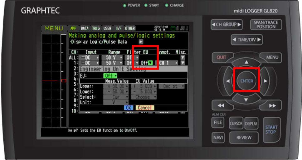 Graphtec Data Logger Data Platform Adjusting Temperature to Zero Step 3
