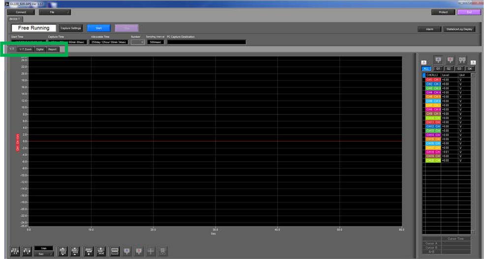 Graphtec Data Logger Data Platform How To Print or Save Displays on GL220 GL820 GL900 GL7000 Step 1