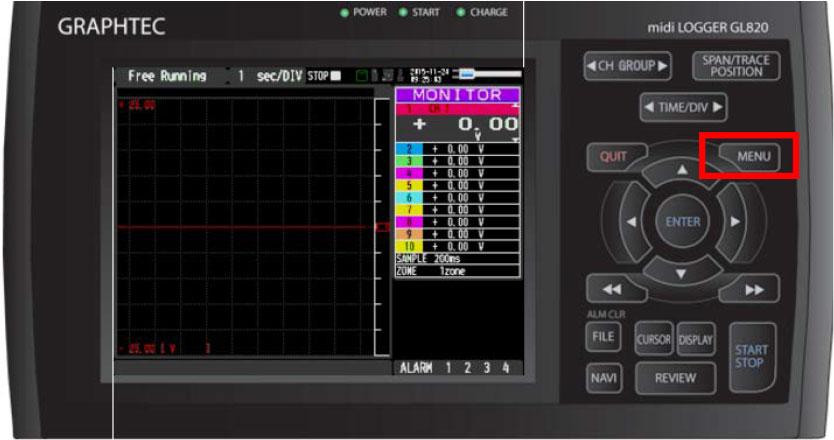 Graphtec Data Logger Data Platform Turning on Pulse Logic Inputs using B-513 Cable Step 1