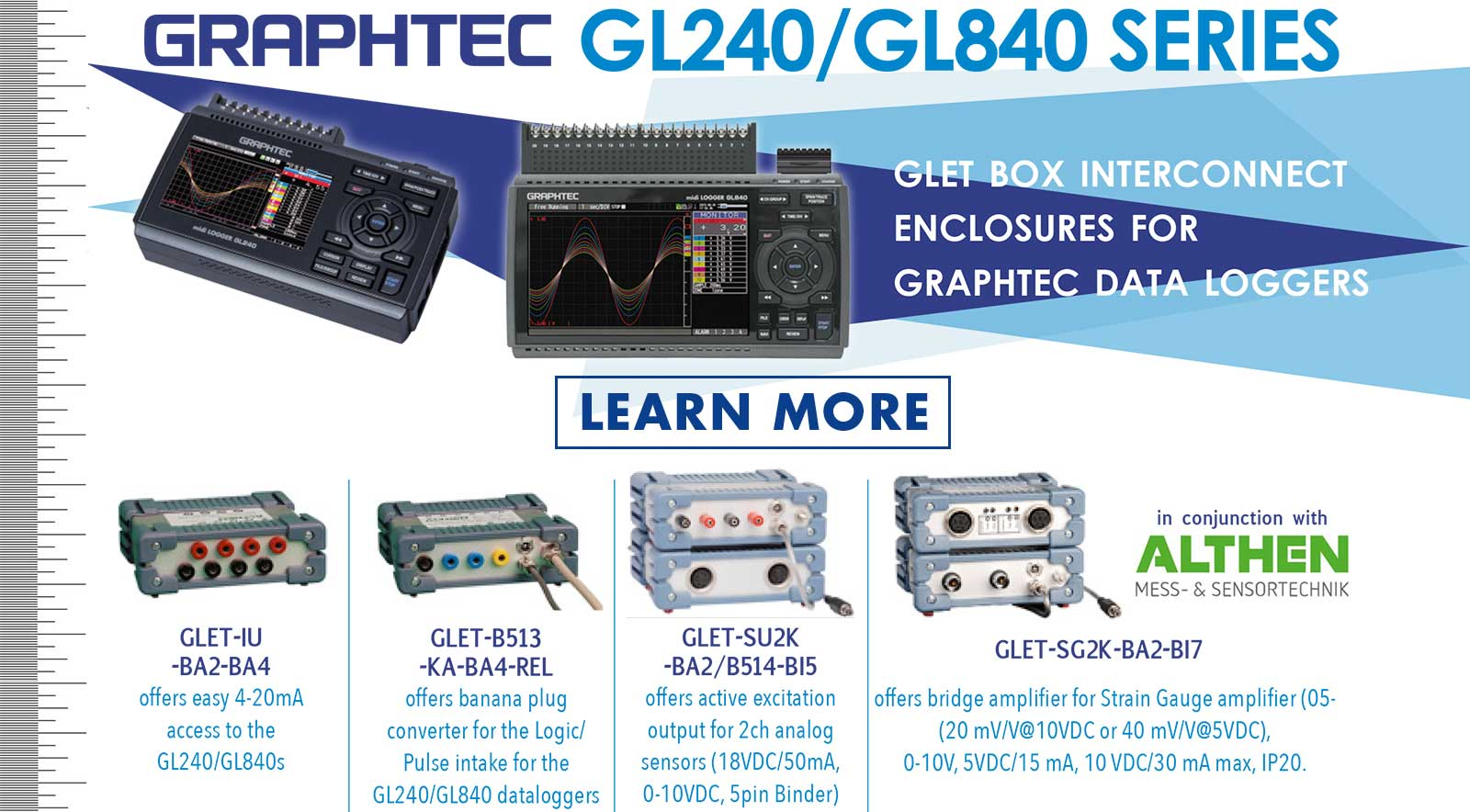 GRAPHTEC MIDI DATA LOGGER GL840 GL240 GLET BOX INTERCONNECT ENCLOSURES FOR GRAPHTEC DATA LOGGERS