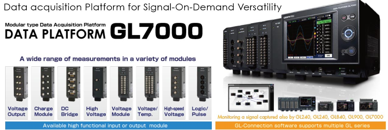 Graphtec Data Platform GL7000 Data Acquisition Platform for Signal On Demand Versatility