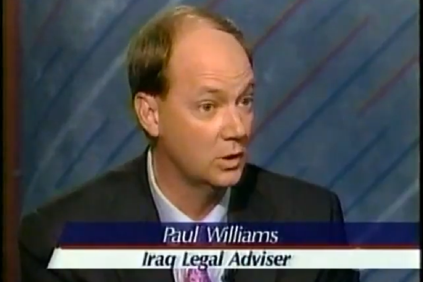 Dr. Paul Williams on the Jim Lehrer News Hour with Margaret Warner discussing the Iraq Constitution.