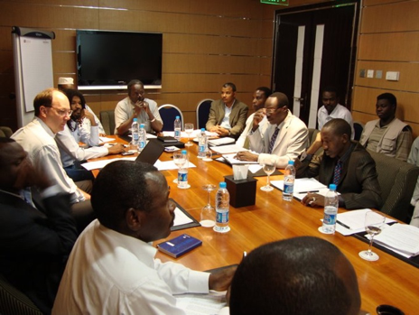 Dr. Paul Williams and the Darfuri delegation preparing for ceasefire negotiations in Doha.