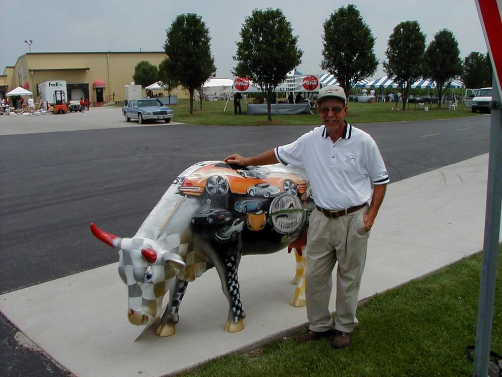 John and Porsche cow.jpg
