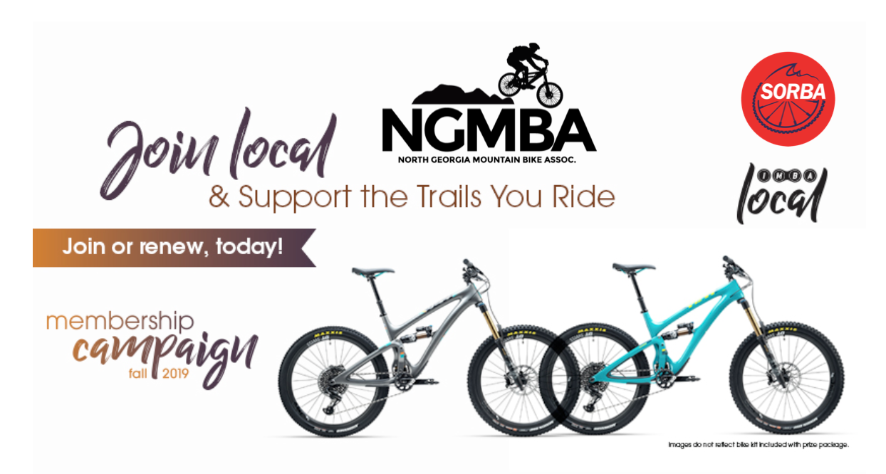- When you join NGMBA or renew your membership in October, you're entered to win a Yeti Beti or Yeti SB6! Your membership supports new trail projects, such as, Fruitkof, Aska Trail Sytem, Ridgeway and Woodring Branch, great events, fun rides and trail maintenance. More people joining = more resources = more trails close to home.