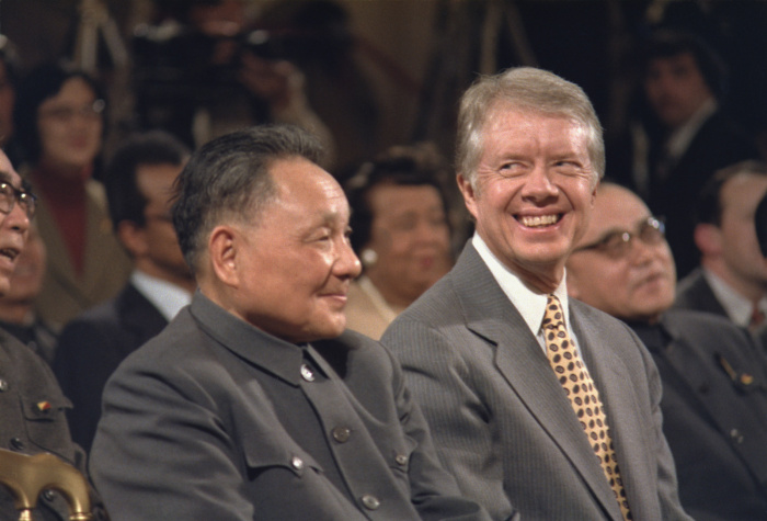 Deng Xiaoping with US president Jimmy Carter