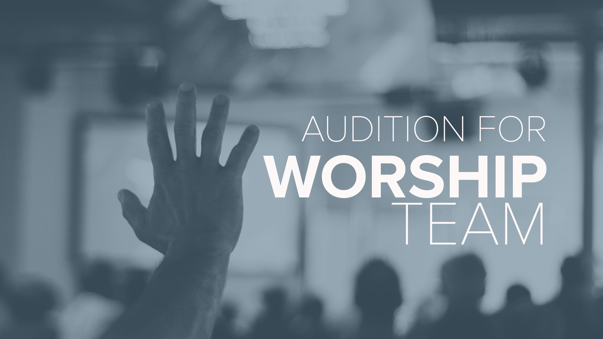 - Worship is a major part of who we are. Having the chance to lead others into the presence of God by utilizing the talents He gave us is an absolute privilege in this life. If you feel the Lord calling you to join the worship team Sign Up for an Audition.