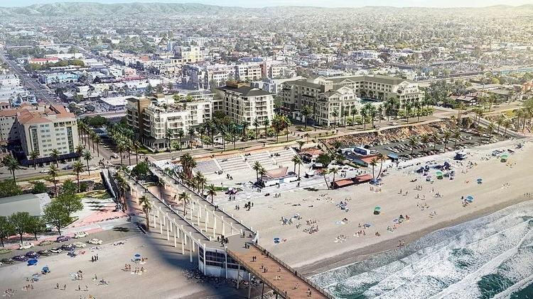 Rising costs delay Oceanside resort construction - Construction of a two-hotel beachfront resort long planned near the Oceanside pier has been delayed again but should begin before the end of this year, the developer said this week.
