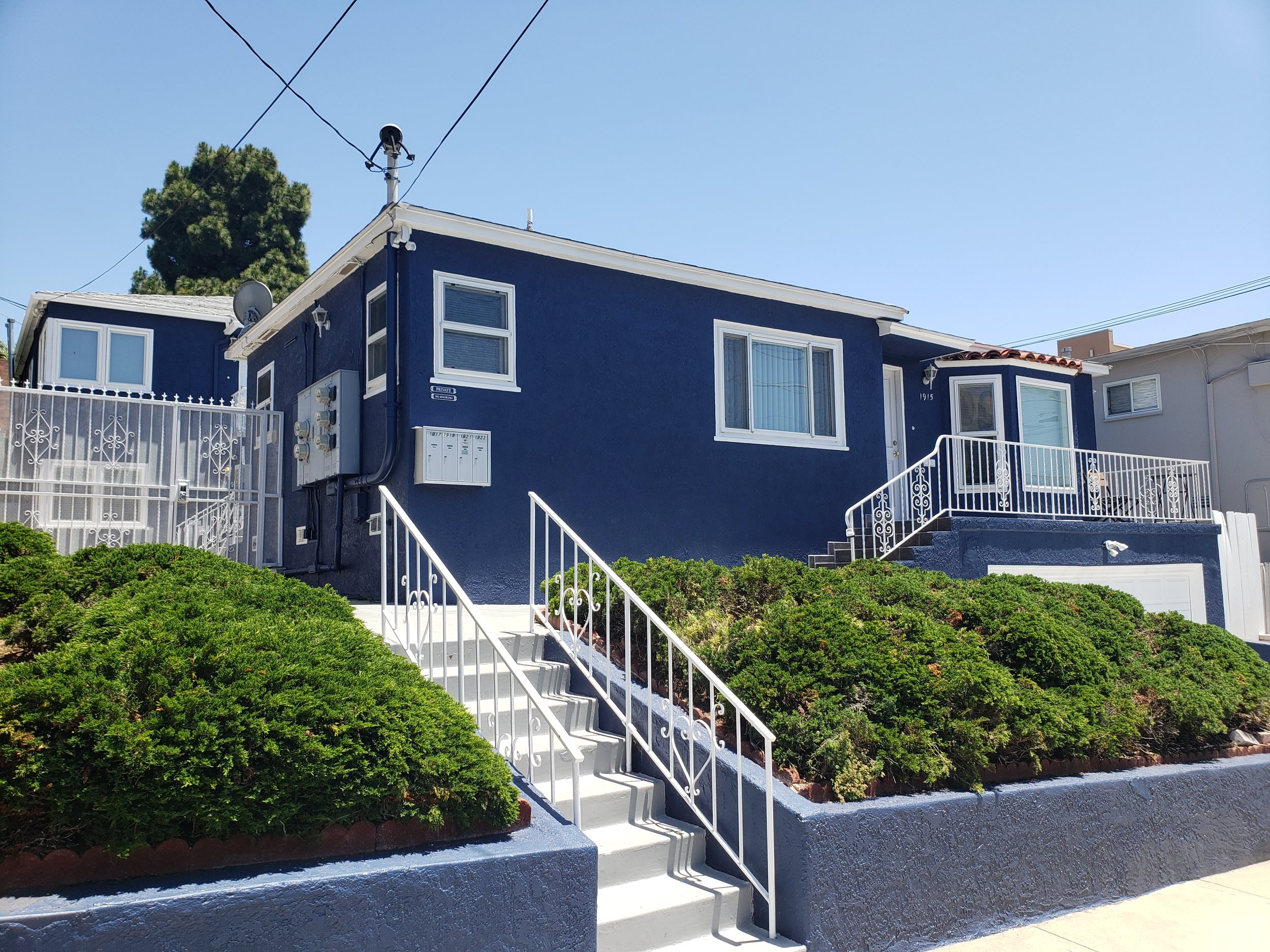 """1915-1923 2nd Ave, San Diego, CA 92101Offered at $ 1,949,000 - This property consist of consists of 2 bed 2 bath Single family which has a 2 car garage and separate four plex . Located in the Bankers Hill market tenants enjoy being able to walk to Little Italy and Balboa park. Couple more minutes and the tenants can be in downtown or Hillcrest. The main house has a basement that is currently configured to be a Airbnb (Boot Studio). The property is close to the flight path, however it has been updated by the """"Quieter Home program"""" with triple pane windows, new doors, AC, insulation etc. Each unit including the boot studio has their own washer and dryer. Rentable sqft is 3,336, units are bright and spacious.Offering MemorandumInvestment Summary"""