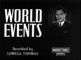Newscaster Lowell Thomas