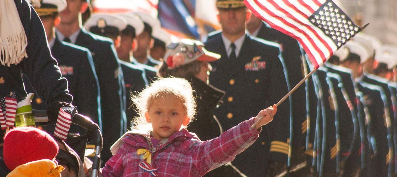veterans day girl flag.JPG
