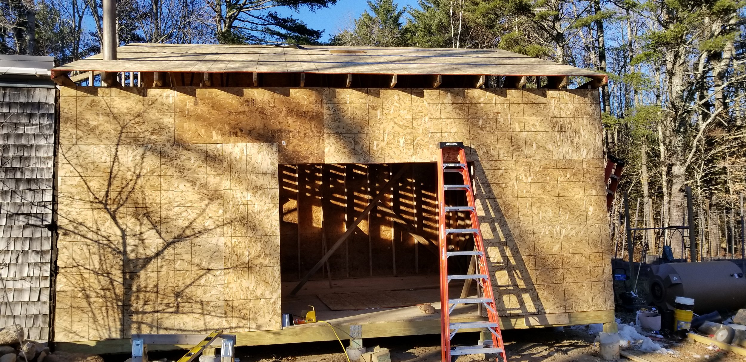 Almsot complete! - Finish the roof and siding and we can start inside!