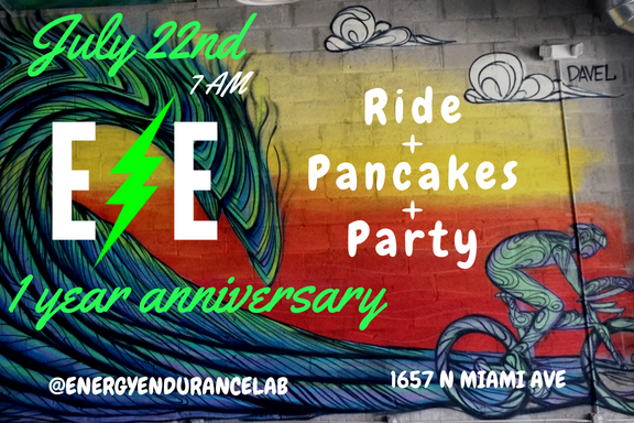 Join us July 22 to kick off our 1 Year Anniversary Celebration.  We will kick off with a bike ride from the studio at 7am heading to black point marina.  Then we will head back to the studio for a morning full of pancakes, drinks, coffee, and Tour De France action!