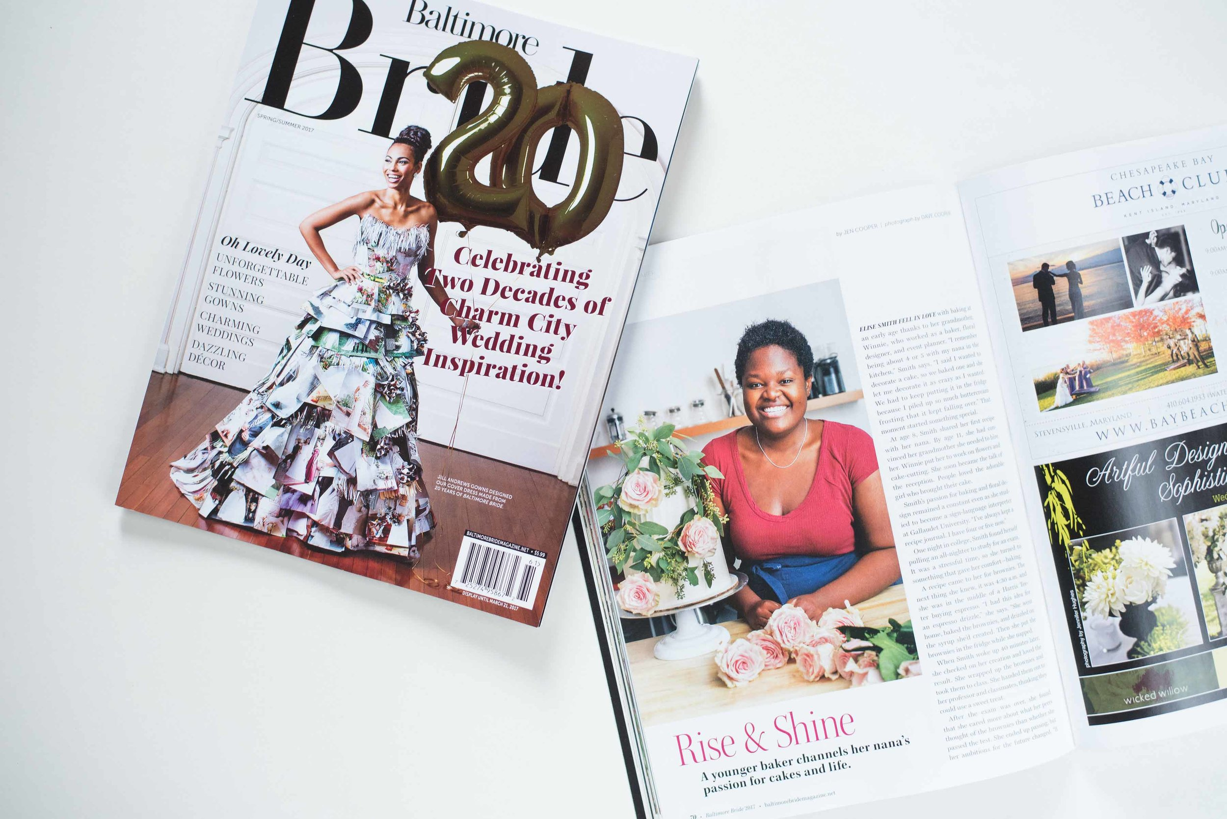 Elise's Feature in Baltimore Bride Magazine